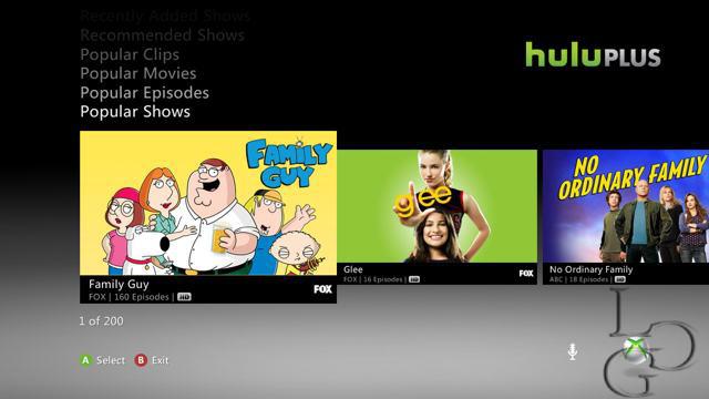 Hulu Plus Xbox 360 Impressions